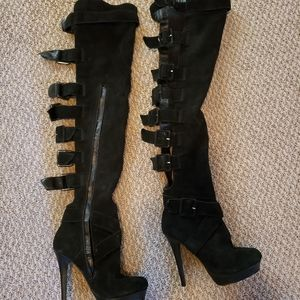 Colin Stuart sexy Knee High Suede boots size 6.5